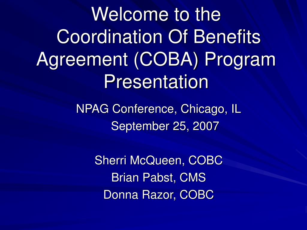 npag conference chicago il september 25 2007 sherri mcqueen cobc brian pabst cms donna razor cobc l.
