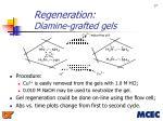 regeneration diamine grafted gels