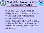 much of u s economic activity is affected by weather