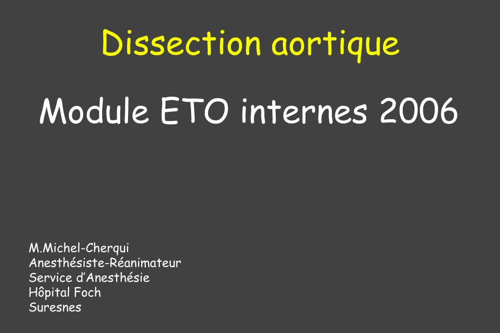dissection aortique l.