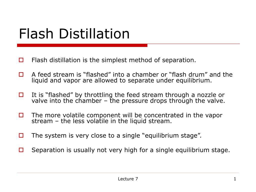 flash distillation l.
