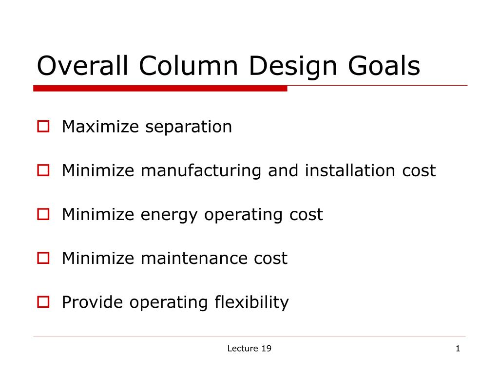 overall column design goals l.