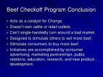 beef checkoff program conclusion