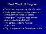 beef checkoff program