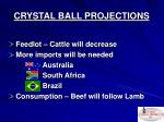 crystal ball projections