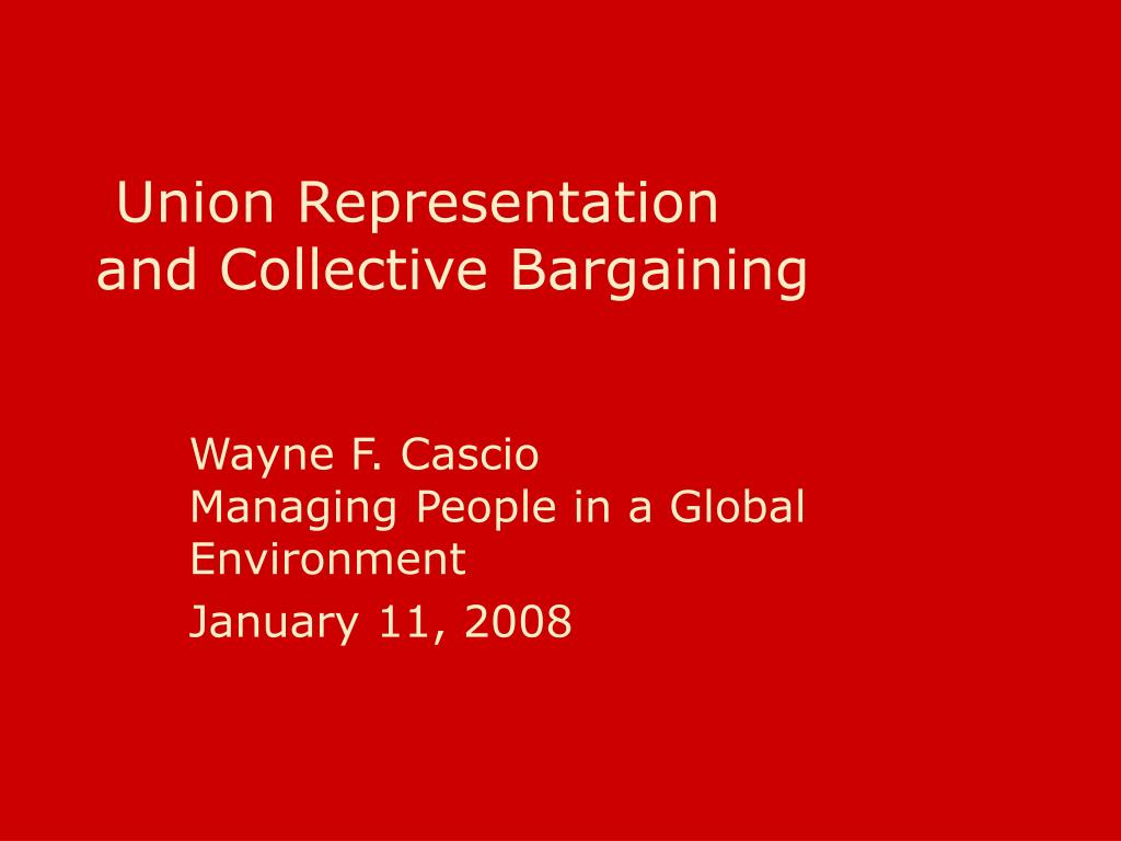 union representation and collective bargaining l.