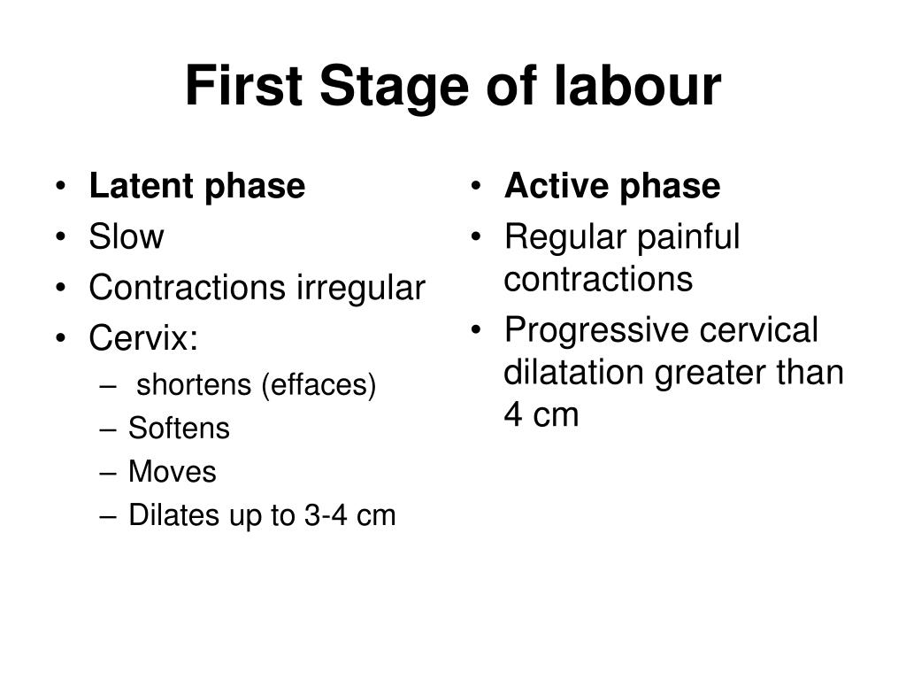 Latent phase