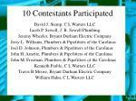 10 contestants participated
