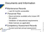 documents and information14
