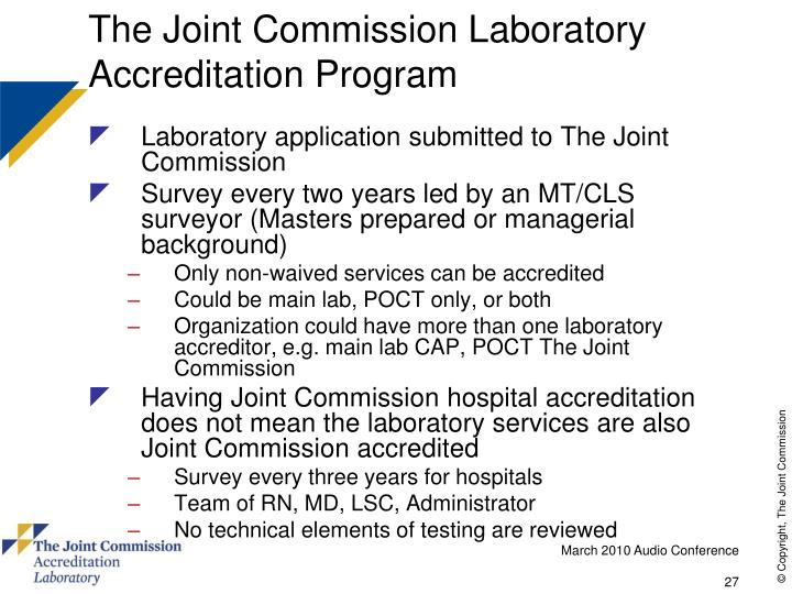 the joint commission study essay The joint commission- a higher standard of care the article the joint commission: a new look at what it can do, dives into the driving forces of this organization describing how they impact healthcare facilities while upholding the standards set to ensure patient safety and quality care.