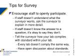 tips for survey17