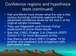 confidence regions and hypothesis tests continued18