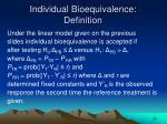 individual bioequivalence definition