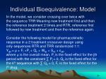 individual bioequivalence model