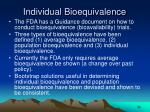 individual bioequivalence
