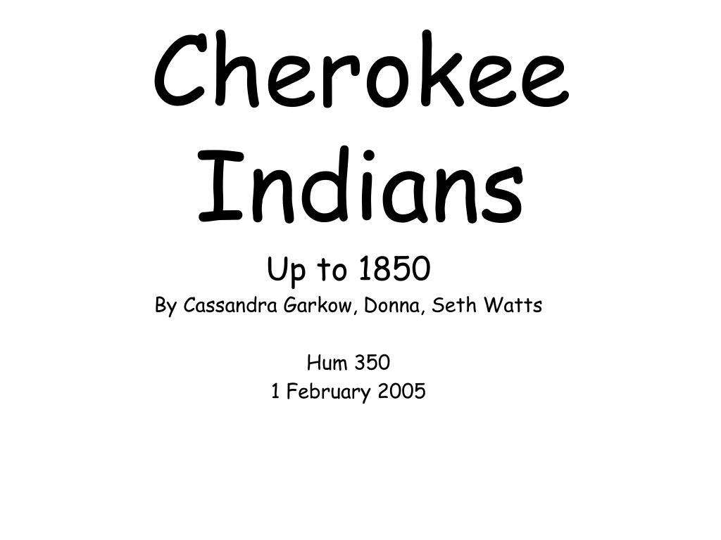 cherokee indians l.