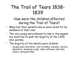 the trail of tears 1838 183912