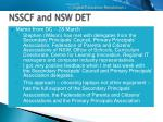 nsscf and nsw det11