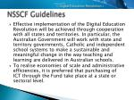 nsscf guidelines