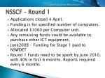 nsscf round 1