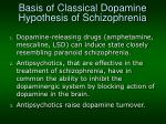basis of classical dopamine hypothesis of schizophrenia