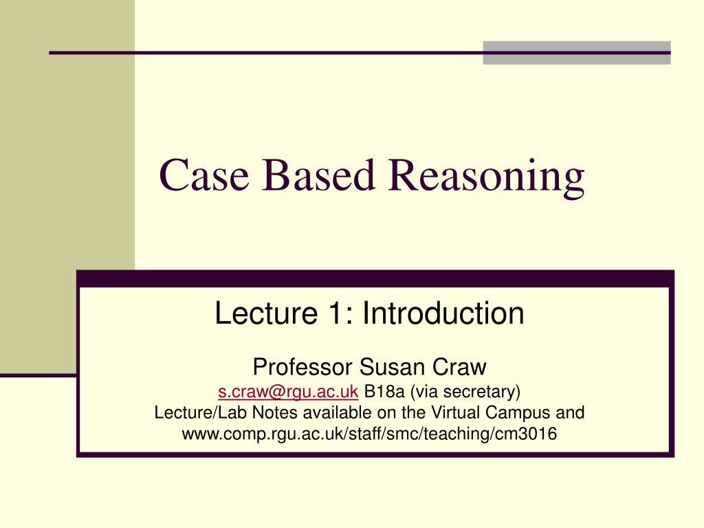 case based reasoning l.
