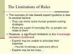 the limitations of rules