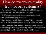 how do we ensure quality fruit for our customers