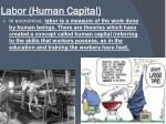 labor human capital