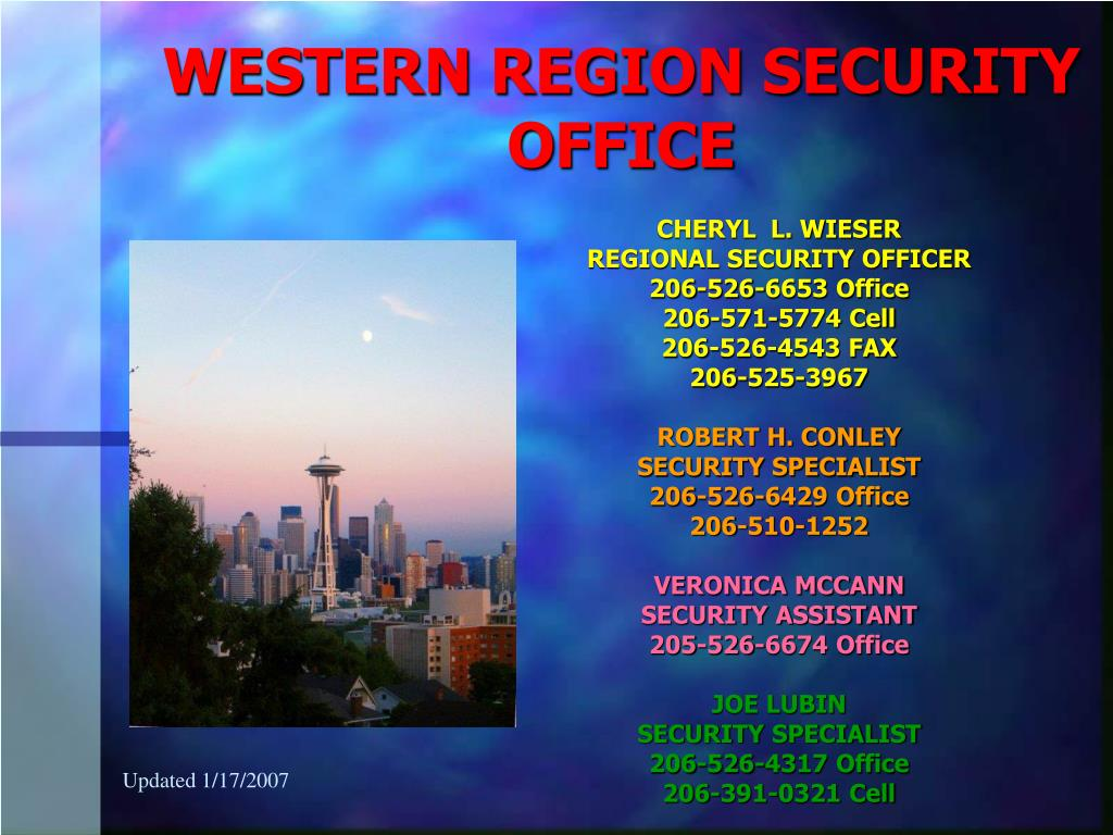 western region security office l.