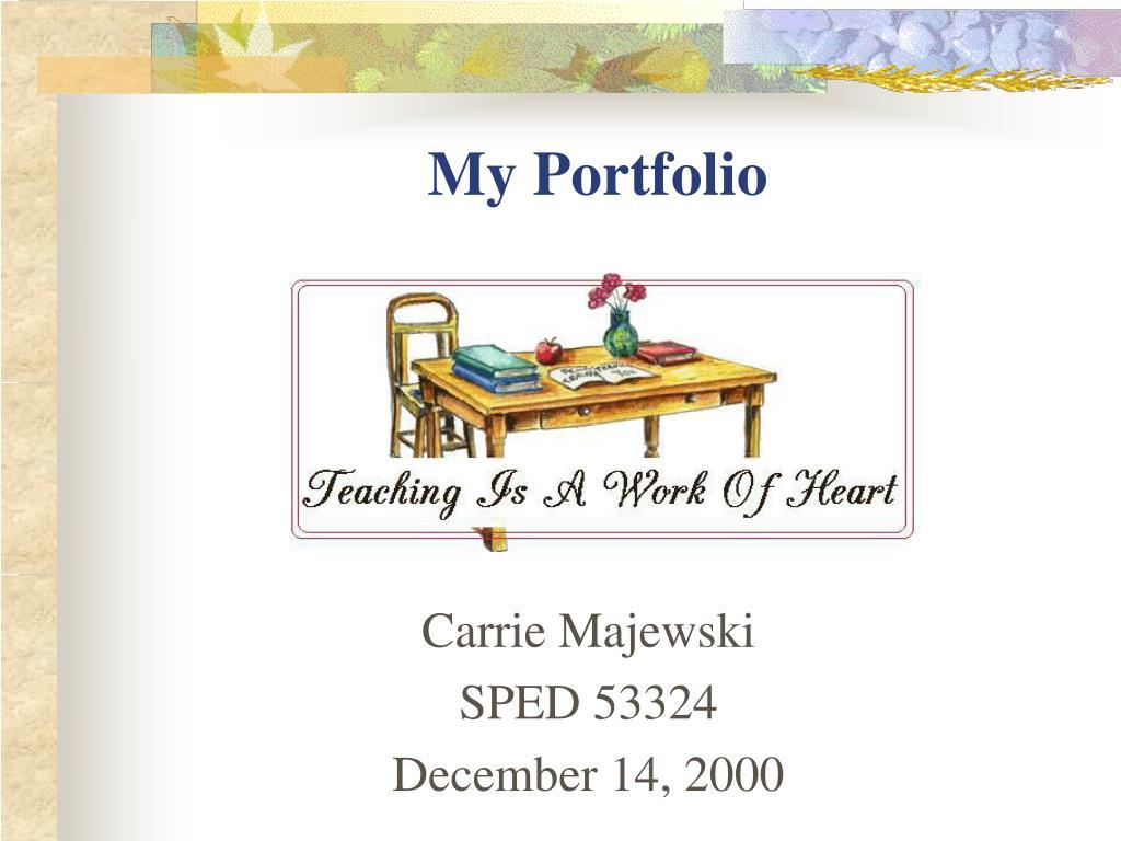 carrie majewski sped 53324 december 14 2000 l.