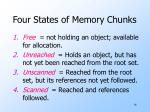 four states of memory chunks