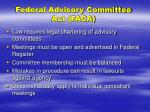 federal advisory committee act faca