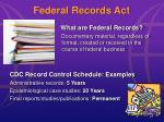 federal records act