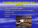 freedom of information act foia