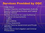 services provided by ogc