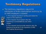 testimony regulations3