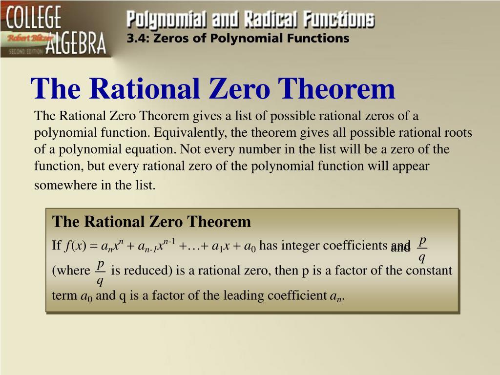 the rational zero theorem l.