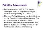 fy09 key achievements