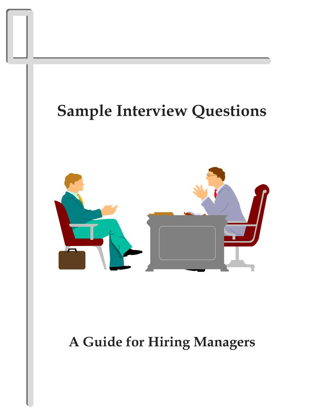 sample interview questions l.