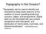 topography in the oceans