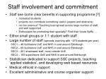 staff involvement and commitment