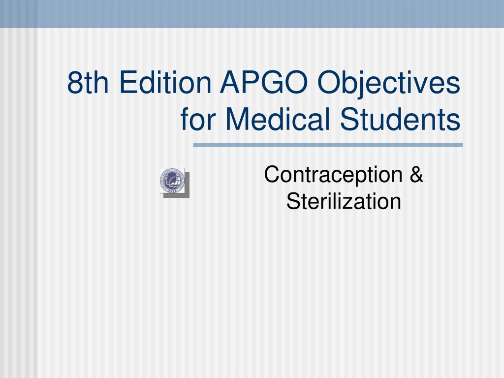 8th edition apgo objectives for medical students l.