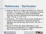references sterilization