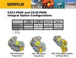 cx31 p600 and cx35 p800 integral option configurations