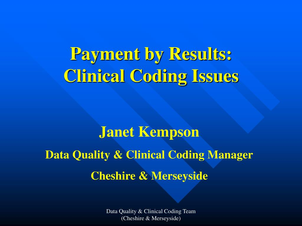 payment by results clinical coding issues l.