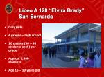 liceo a 128 elvira brady san bernardo