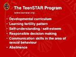 the teenstar program www teenstar org
