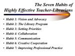 the seven habits of highly effective teacher librarians9