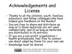 acknowledgements and license